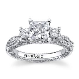 Verragio 18Kt White Gold Diamond Engagement Ring Setting 3/4 cttw