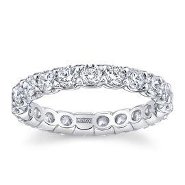 A. Jaffe 18k White Gold Diamond Wedding Band 2 ct. tw.