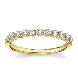 Divine 18Kt Yellow Gold Diamond Wedding Band 1/3 cttw