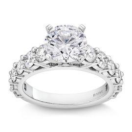 Divine Platinum Diamond Engagement Ring Setting 1 5/8 ct. tw.