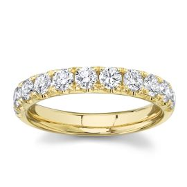 Divine 14k Yellow Gold Diamond Wedding Band 1 ct. tw.