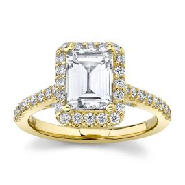 Suns and Roses 14k Yellow Gold Diamond Engagement Ring Setting 5/8 ct. tw.