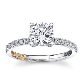 A. Jaffe 14k White Gold and 14k Rose Gold Diamond Engagement Ring Setting 1/3 ct. tw.