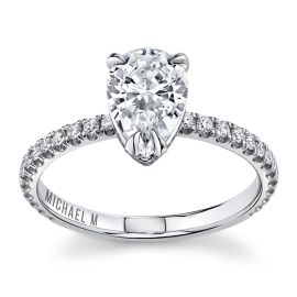 Michael M. 18Kt White Gold Diamond Engagement Ring Setting 1/3 cttw
