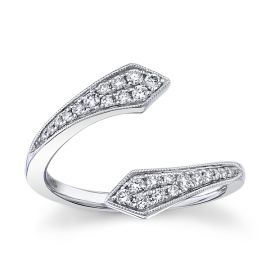 Gabriel & Co. 14k White Gold Diamond Wedding Band 1/4 ct. tw.