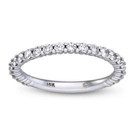 Ladies 14k White Gold Diamond Wedding Band 1/2 ct. tw.