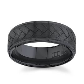 Black Ceramic Carbide 8 mm Wedding Band