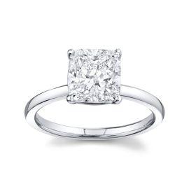 Henri Daussi 18k White Gold Diamond Engagement Ring 2 1/4 ct. tw.