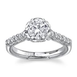 Verragio 14Kt White Gold Diamond Engagement Ring Setting 3/8 cttw