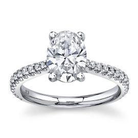 Eternalle Lab-Grown 14Kt White Gold Diamond Engagement Ring 1 3/4 cttw