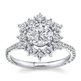 Simon G. 18k White Gold Diamond Engagement Ring Setting 7/8 ct. tw.