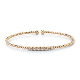 Gabriel & Co. 14k Rose Gold Bracelet 1/8 ct. tw.