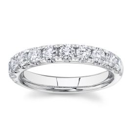 Divine 14k White Gold Diamond Wedding Band 1 ct. tw.