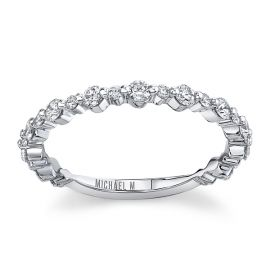 Michael M. 18Kt White Gold Diamond Wedding Band 1/2 cttw