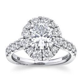 A. Jaffe 14k White Gold Diamond Engagement Ring Setting 1 1/4 ct. tw.