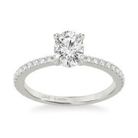 Love Earth 14Kt White Gold Diamond Engagement Ring Setting 1/3 ct. tw