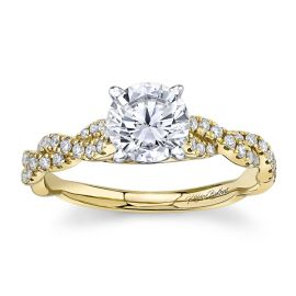 RB Signature 14k Yellow Gold and 14k White Diamond Engagement Ring Setting 1/4 ct. tw.