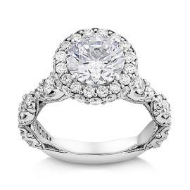 Tacori Platinum Diamond Engagement Ring Setting 1 7/8 ct. tw.