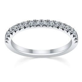 RB Signature 14k White Gold Diamond Wedding Band 1/3 ct. tw.
