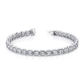 14k White Gold Bracelet 5 ct. tw.