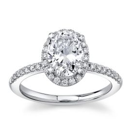 RB Signature 14Kt White Gold Diamond Engagement Ring 1/4 cttw