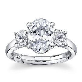 A. Jaffe 14k White Gold Diamond Engagement Ring Setting 5/8 ct. tw.