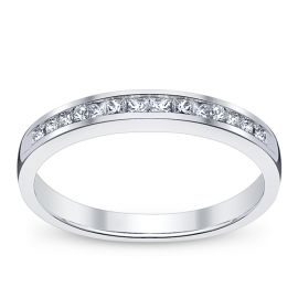 14k White Gold Diamond Wedding Ring 1/4 ct. tw.