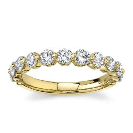 Divine 18Kt Yellow Gold Diamond Wedding Band 1 cttw