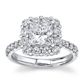 Eternalle Lab-Grown 14Kt White Gold Diamond Engagement Ring 2 1/2 cttw
