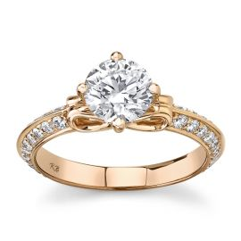 Eternalle Lab-Grown 14Kt Rose Gold Diamond Engagement Ring 1 1/3 cttw