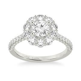 Love Earth 14Kt White Gold Diamond Engagement Ring Setting 1 ct. tw