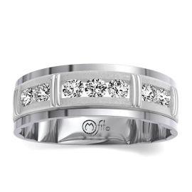 MFit 14Kt White Gold Diamond Wedding Band 1/2 cttw