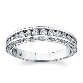 Michael M. 18k White Gold Diamond Wedding Band 3/4 ct. tw.
