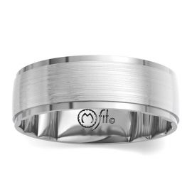MFit 14Kt White Gold 7 mm Wedding Band