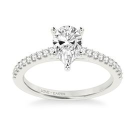 Love Earth 14Kt White Gold Diamond Engagement Ring Setting 1/5 ct. tw