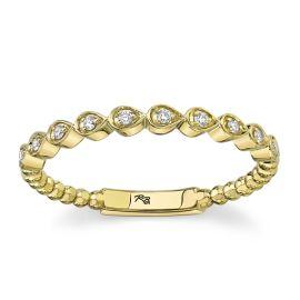 14k Yellow Gold Diamond Wedding Band .05 ct. tw.
