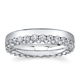 Christian Bauer 14k White Gold Diamond Wedding Band 1 ct. tw.