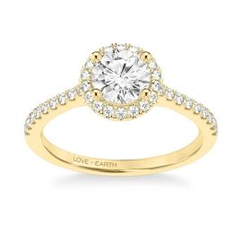 Love Earth 14Kt Yellow Gold Diamond Engagement Ring Setting 1/4 ct. tw