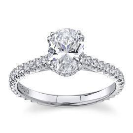 Verragio 14Kt White Gold Diamond Engagement Ring Setting 1/2 cttw