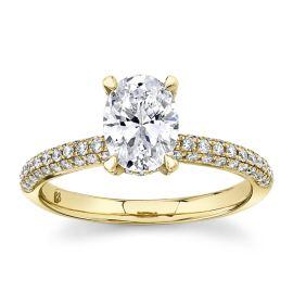 RB Signature 14k Yellow Gold Diamond Engagement Ring Setting 1/2 ct. tw.