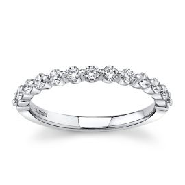 Henri Daussi 18k White Gold Diamond Wedding Band 1/2 ct. tw.