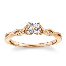 Cherish 10k Rose Gold Promise Ring 1/10 ct. tw.