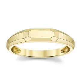 Shy Creation 14k Yellow Gold Band