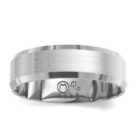 MFit 14Kt White Gold 8 mm Wedding Band