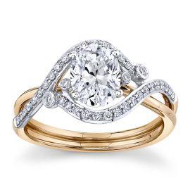 Simon G. 18k Rose Gold and 18k White Gold Diamond Engagement Ring Setting 1/6 ct. tw.