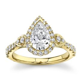Eternalle Lab-Grown 14k Yellow Gold Diamond Engagement Ring 1 1/3 ct. tw.