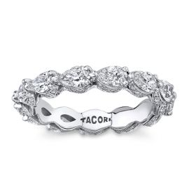 Tacori 18k White Gold Diamond Wedding Band 2 1/4 ct. tw.