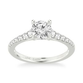 Love Earth 14Kt White Gold Diamond Engagement Ring Setting 1/3 ct. tw