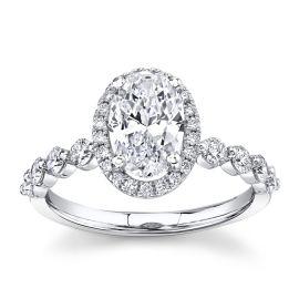 Love Earth 14k White Gold Diamond Engagement Ring Setting 5/8 ct. tw.