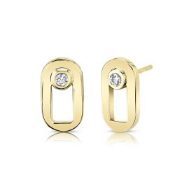 Michael M. 14k Yellow Gold Earrings .08 ct. tw.
